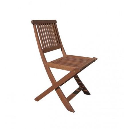 Dřevěné křeslo z masivu, tvrdé tropické dřevo MERANTI