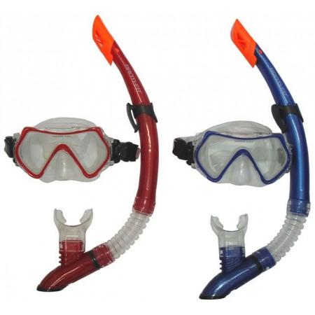 Potápečské brýle se šnorchlem, ženy + junioři, červená