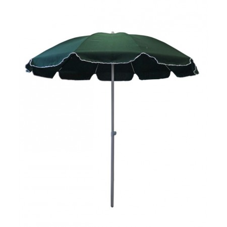 Kulatý slunečník ve tvaru deštníku, hlinková kostra, zelený, průměr 3 m