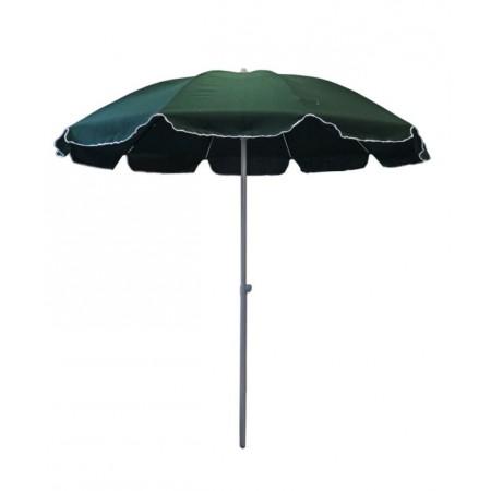Kulatý slunečník ve tvaru deštníku, hlinková kostra, zelený, průměr 2,5 m