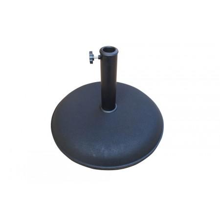 Kulatý postavec pod slunečníky, beton, černý, 25 kg