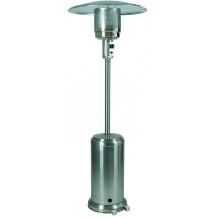 Venkovní plynové topidlo s kolečky, nerez, 11,7 kW, 220 cm