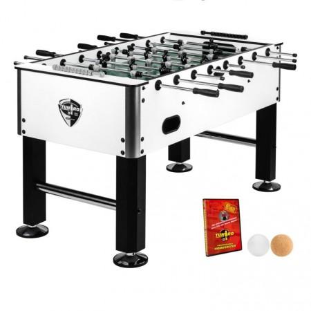 Designový stolní fotbal do kluboven / restaurací, 75 kg, černá / bílá