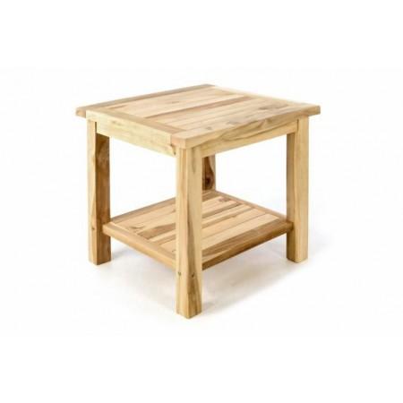 Menší zahradní odkládací stolek z masivního dřeva- teak, 50x50 cm