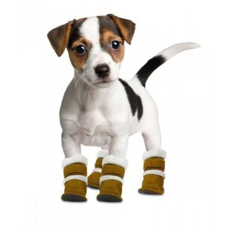 Zateplené boty pro psy, malé a střední rasy, sada 4 ks