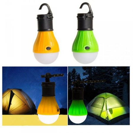 Závěsná svítilna do venkovního prostředí, tvar žárovky, na baterie, oranžová