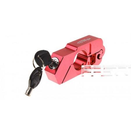 Zámek na brzdovou páčku motorky, červený
