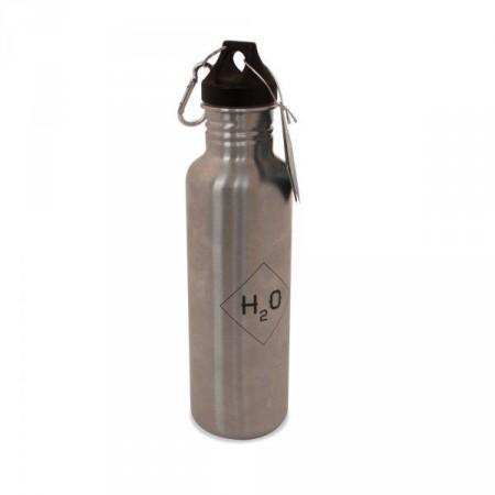 Odolná kovová lahev na vodu, nerez, 27,5 cm