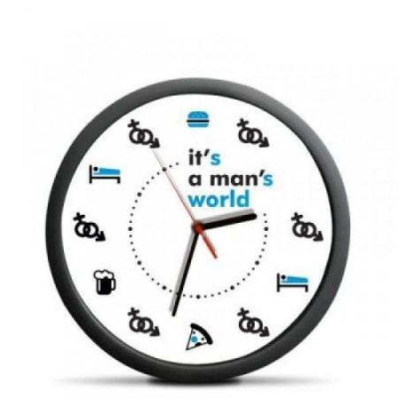 Vtipné dárkové hodiny pro muže- biologické hodiny, průměr 30 cm