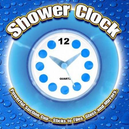 Vodotěsné nástěnné hodiny do koupelny / sprchy, průměr 14 cm