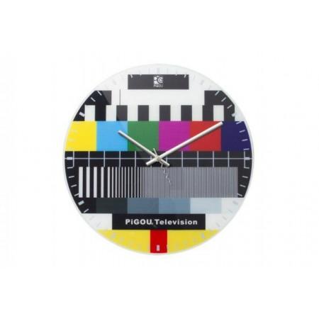 Kulaté nástěnné hodiny - konec vysílání, průměr 30 cm