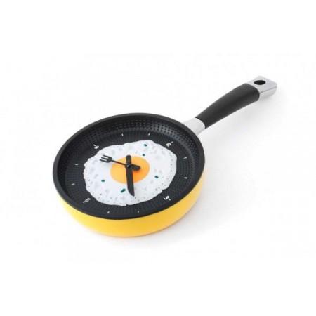 Designové nástěnné hodiny do kuchyně- pávnička s volským okem, průměr 19,5 cm