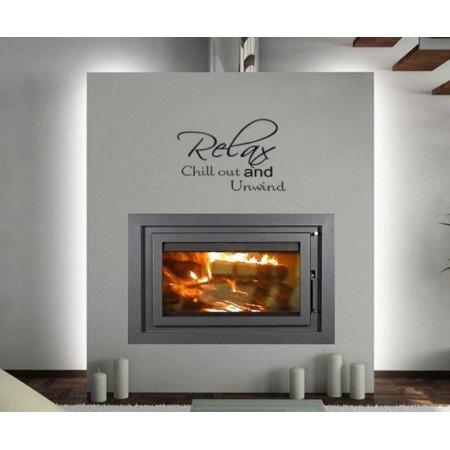Designová samolepka na stěnu- nápis Relax and Chill out, 60x40 cm