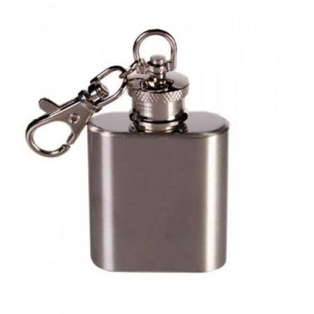 Malá dárková placatka - přívěšek, nerezová ocel, 30 ml