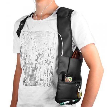 Pánská bezpečnostní taška do podpaží, pod sako / bundu, černá