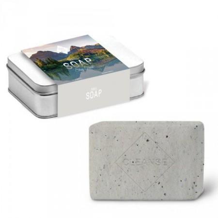 Cestovatelské mýdlo v luxusní plechové krabičce