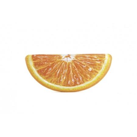 Nafukovací lehátko na vodu- půlkruh, potisk pomeranč, 178 cm x 85 cm