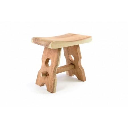 Menší designová stolička z masivního dřeva - mungur, výška 45 cm
