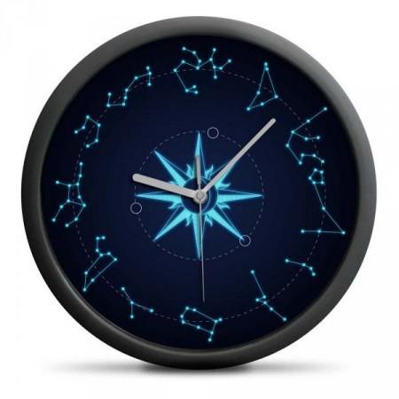 Designové dárkové astrologické hodiny na stěnu, průměr 30 cm