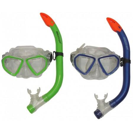 Potapečská sada (brýle + šnorchl) pro ženy a juniory, zelená