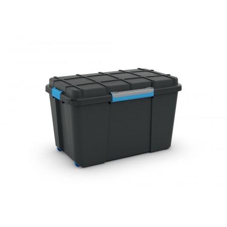 Plastový box na nářadí vodotěsný, s kolečky, velký, 73,5x44,5x46 cm