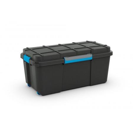 Plastový box na nářadí vodotěsný, s kolečky, střední, 78x39,5x35 cm