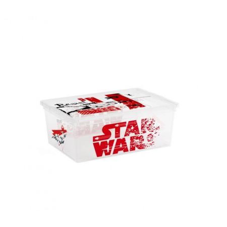 Úložný plastový box s víkem, průhledný + potisk Star Wars, 11 L