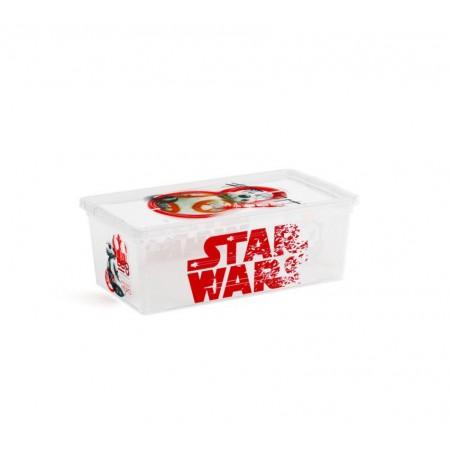 Úložný plastový box s víkem, průhledný + potisk Star Wars, 6 L
