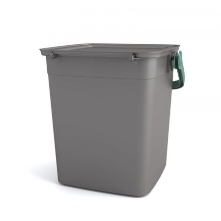 Plastový úložný box s víkem a madlem, šedý, 9 L