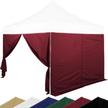 2x boční stěny se zipem pro stany Instent 3x3 m, burgundská