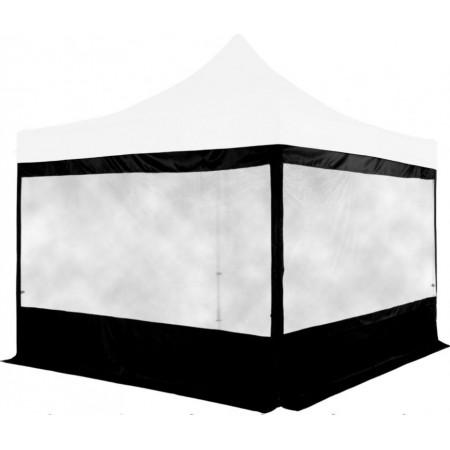 2x boční stěna s velkým oknem pro stany Instent 3x3 m, černá