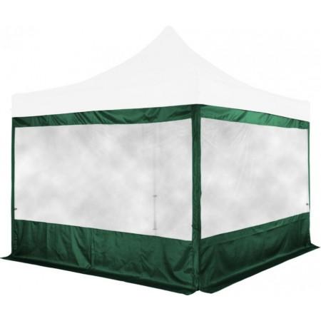 2x boční stěna s velkým oknem pro stany Instent 3x3 m, zelená