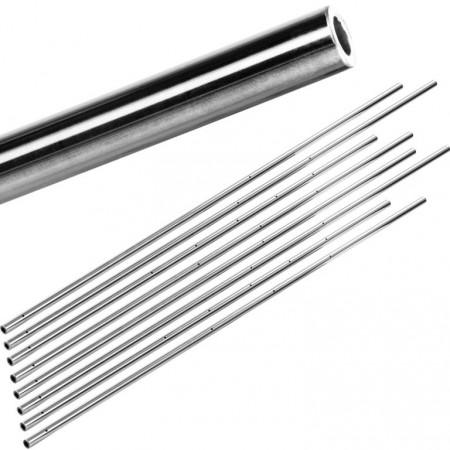 8 ks kovové duté tyče Profi pro stolní fotbálky, průměr 15,9 mm