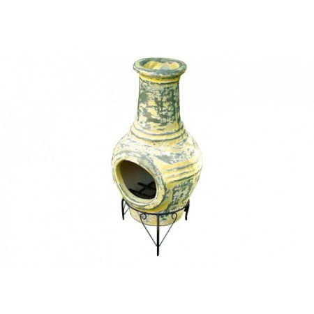 Ozdobný venkovní terakotový krb 88 cm