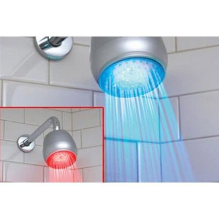 Osvětlená sprchová hlavice, LED dioda se změnou barvy