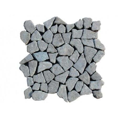 Obklad / dlažka - mozaika venkovní / vnitřní, šedý pískovec, 1m2