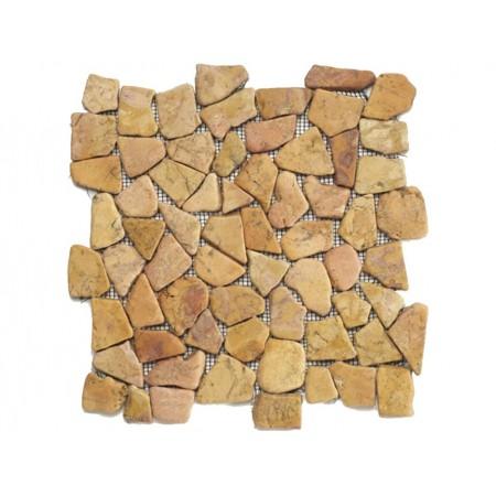 Obklad / dlažka - mozaika venkovní / vnitřní, krémový mramor, 1m2
