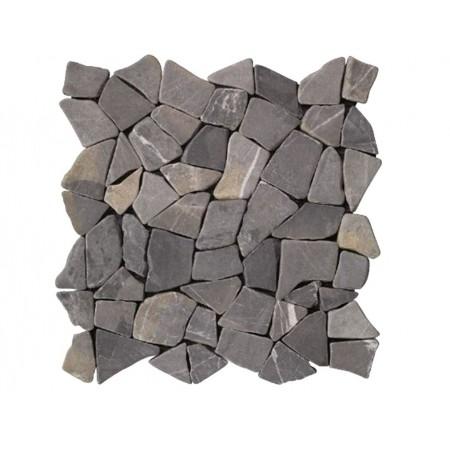 Obklad / dlažka - mozaika venkovní / vnitřní, šedivý mramor, 1m2