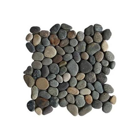 Obklad / dlažka - mozaika venkovní / vnitřní, šedivé oblázky, 1m2
