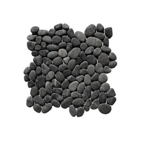 Obklad / dlažka - mozaika venkovní / vnitřní, tmavě šedé oblázky, 1m2