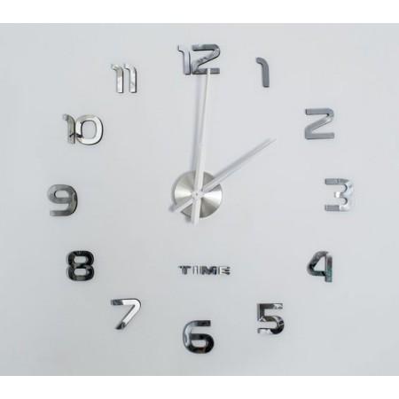 Velké designové nástěnné hodiny s nalepovacími čísly, průměr 60-130 cm