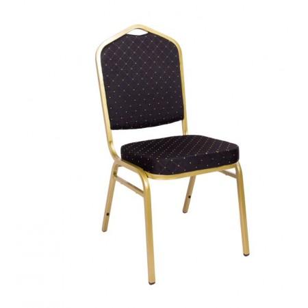 Konfereční / kongresová židle s kovovým rámem, polstrovaná, černá