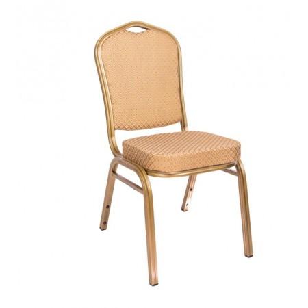 Konfereční / kongresová židle s kovovým rámem, polstrovaná, béžová