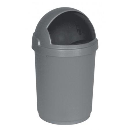Odpadkový koš do kuchyně / kanceláře, ruční - vysouvací víko, šedý, 25 L