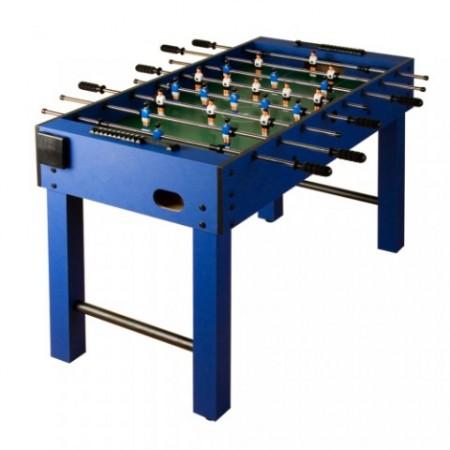 Menší stolní fotbal pro děti a začátečníky, d 121 x  š 61, modrá