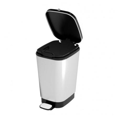 Odpadkový nášlapný koš na odpadky, stříbrný, 10 L