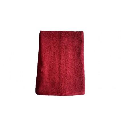 Měkký froté ručník s vysokou savostí, 100% bavlna, 50x100 cm, vínový