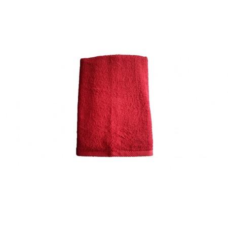 Měkký froté ručník s vysokou savostí, 100% bavlna, 50x100 cm, červený