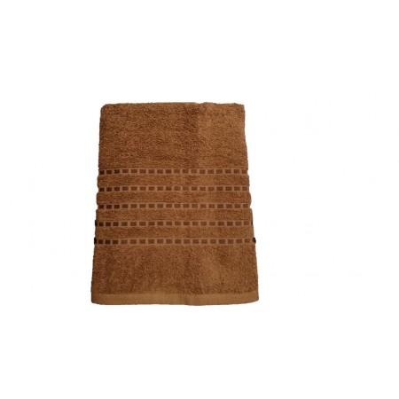 Kvalitní froté ručník jednobarevný, 100% bavlna, 50x100 cm, hnědý