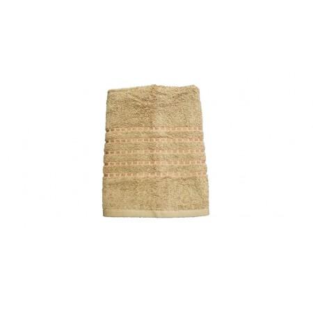 Kvalitní froté ručník jednobarevný, 100% bavlna, 50x100 cm, světle hnědý